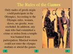 the rules of the g ames