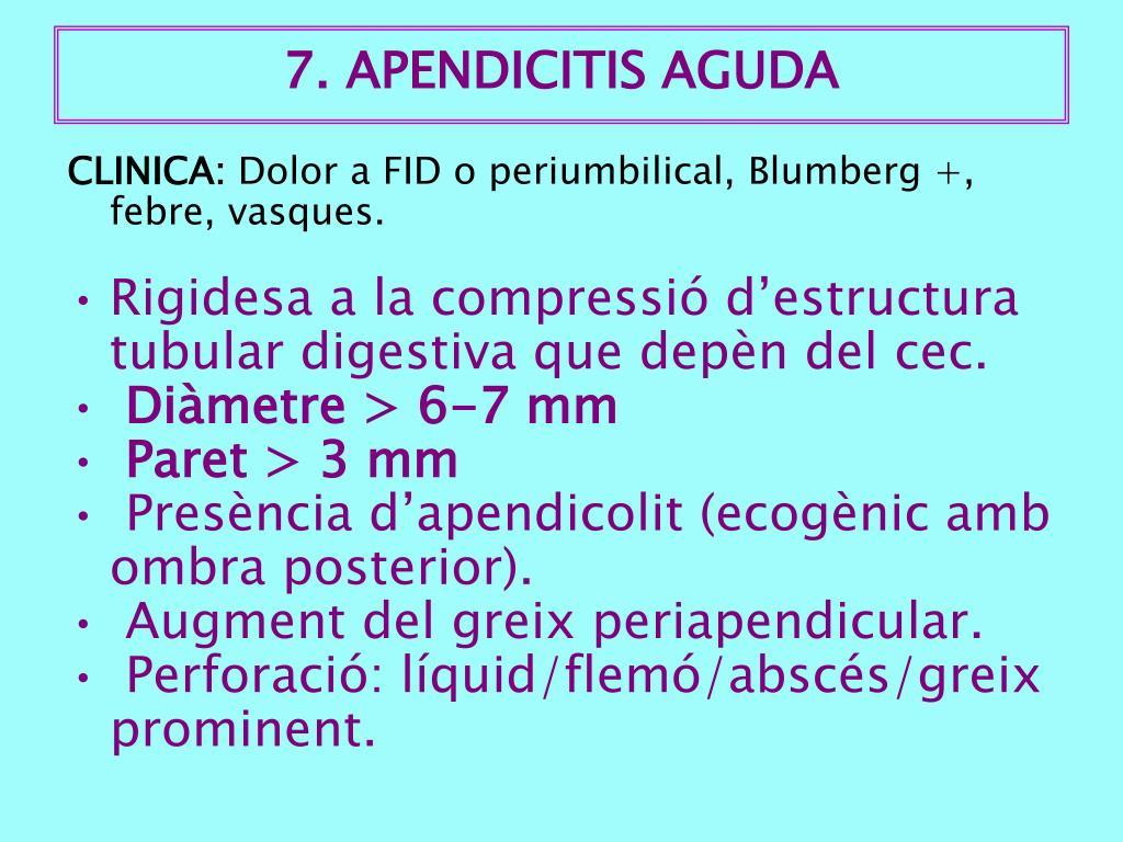 7. APENDICITIS AGUDA