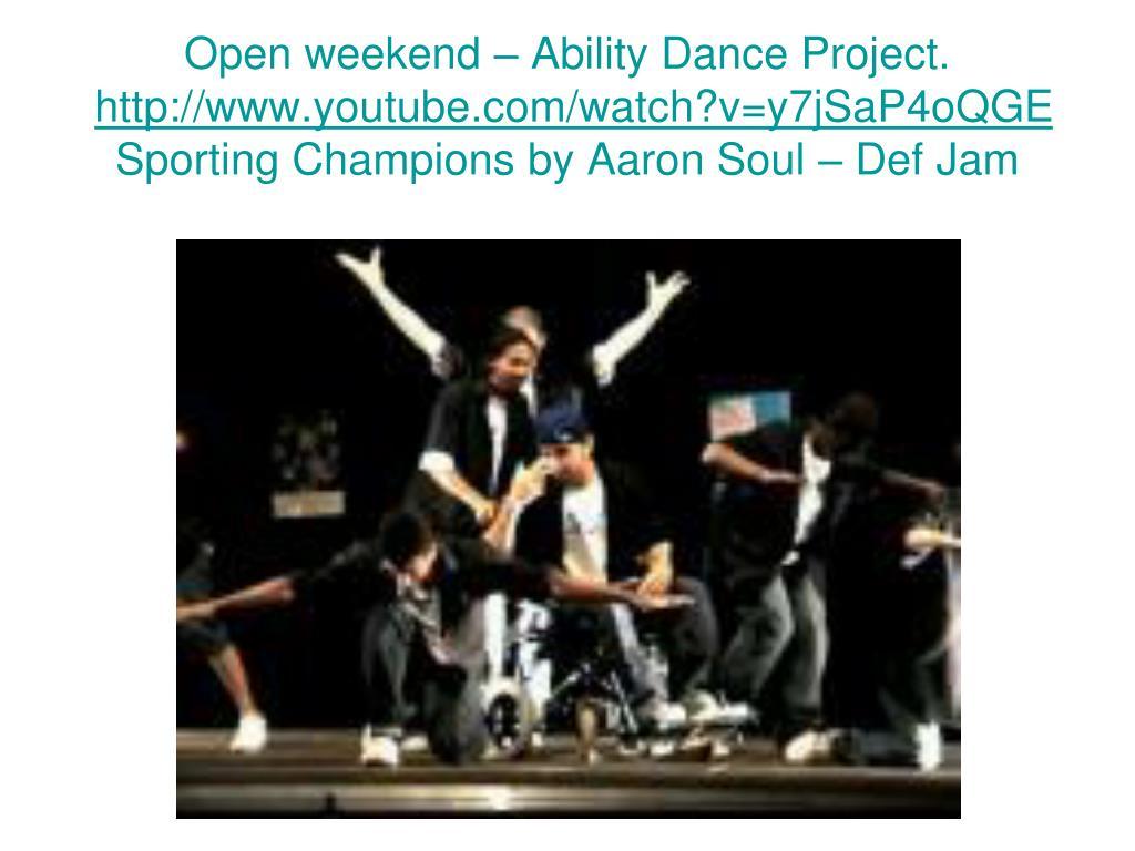 Open weekend – Ability Dance Project.