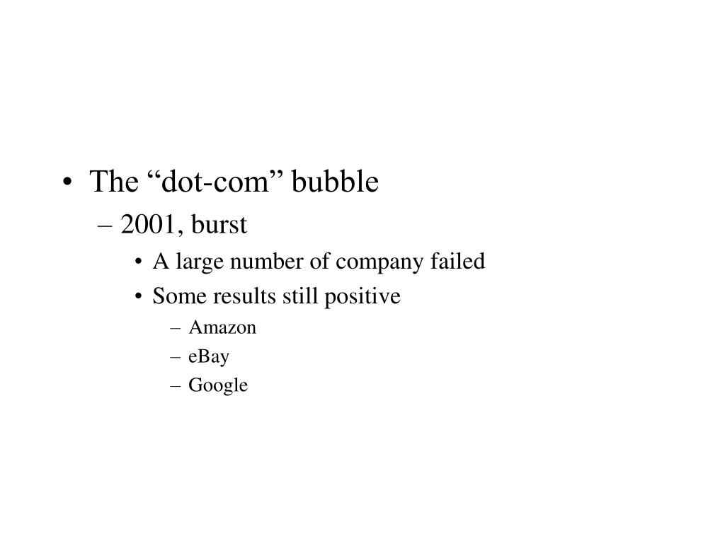 "The ""dot-com"" bubble"
