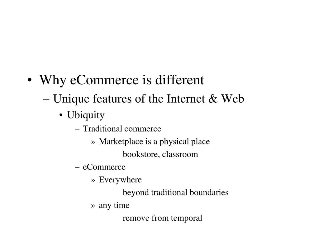 Why eCommerce is different