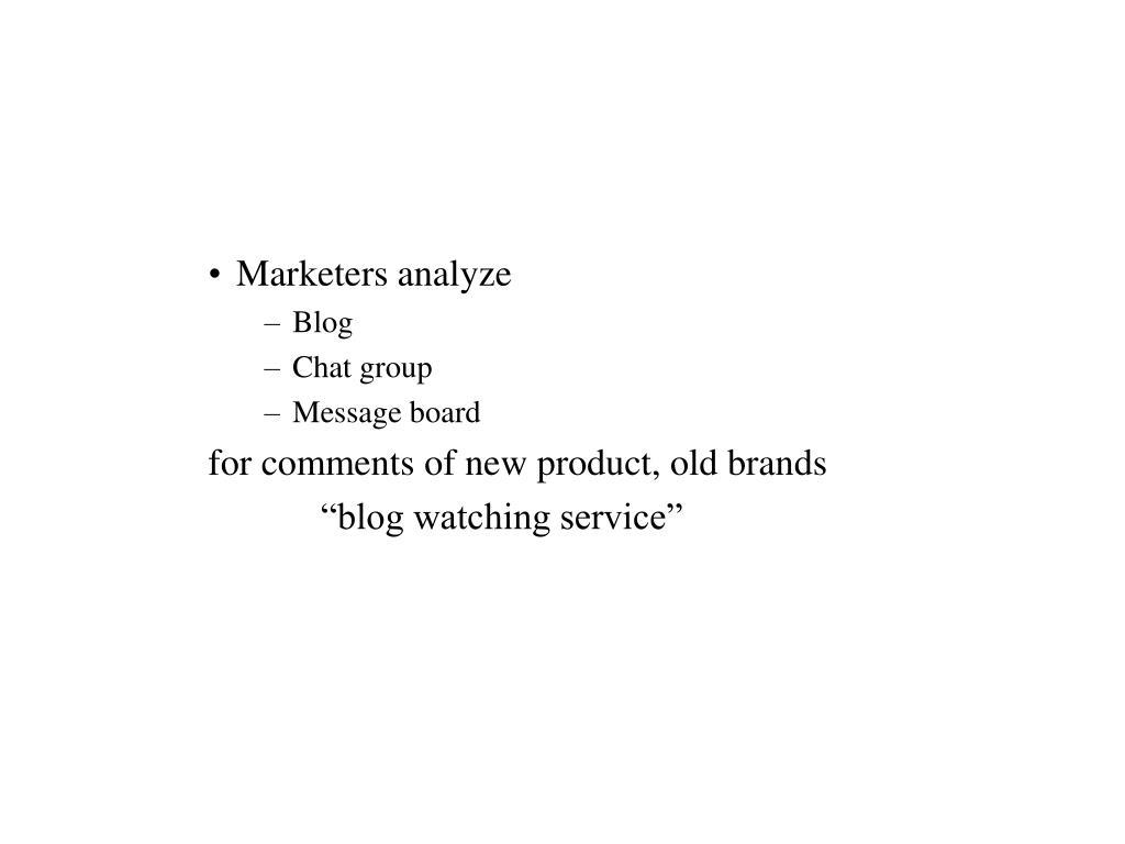 Marketers analyze