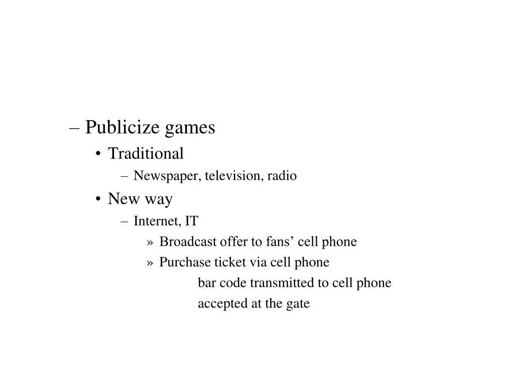 Publicize games