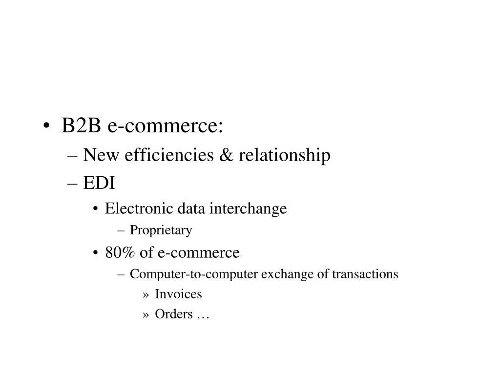 B2B e-commerce: