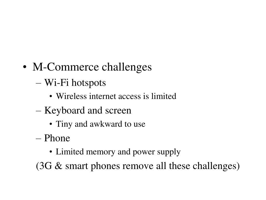 M-Commerce challenges