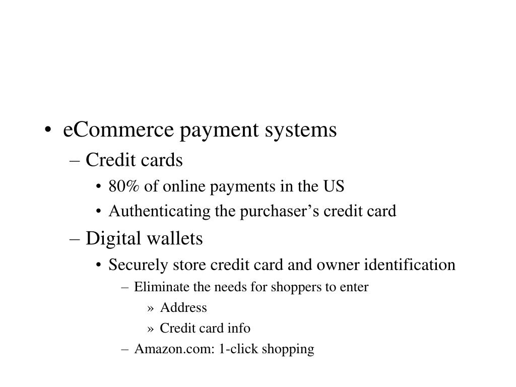 eCommerce payment systems