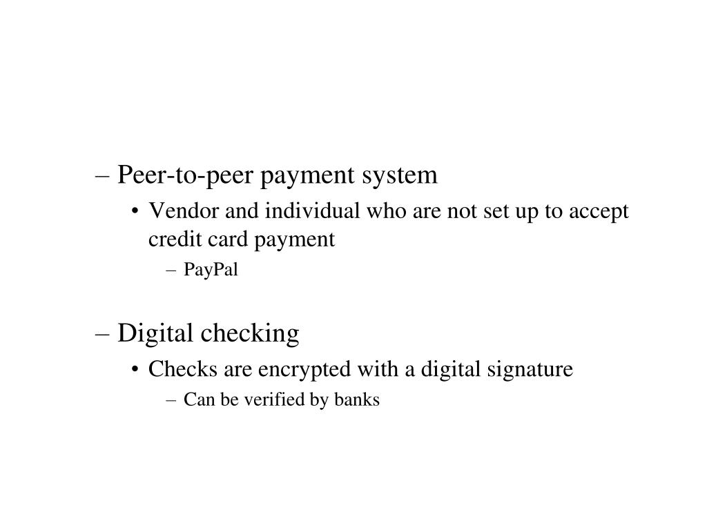 Peer-to-peer payment system