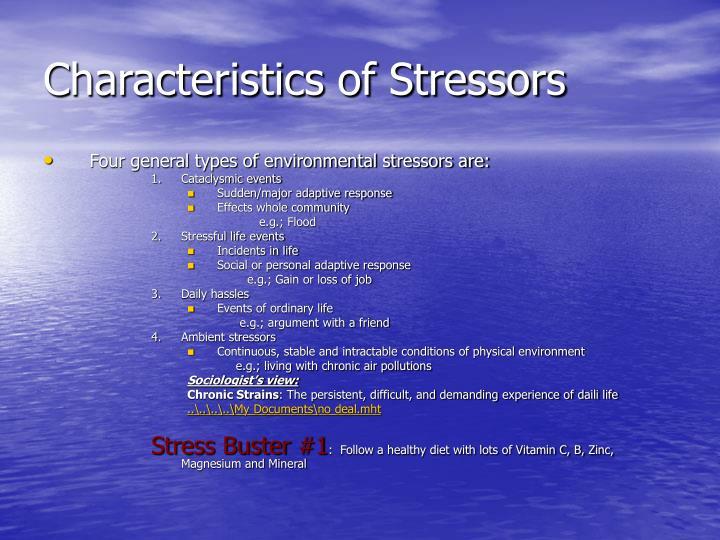 Characteristics of Stressors