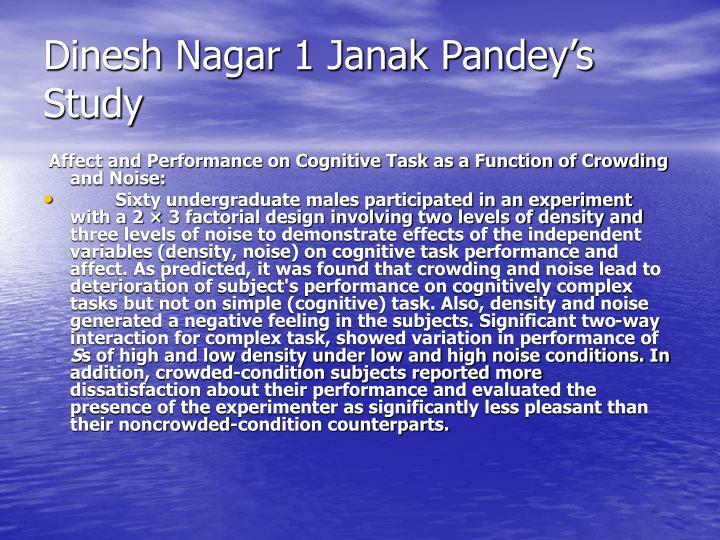 Dinesh Nagar 1 Janak Pandey's Study