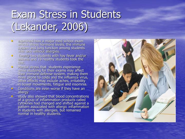 Exam Stress in Students