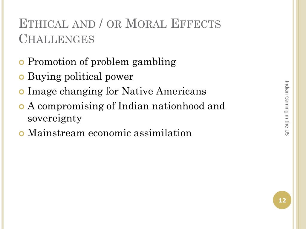 Ethical and / or Moral Effects