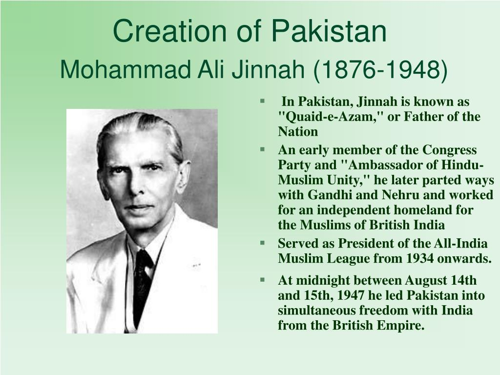 Creation of Pakistan