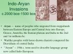 indo aryan invasions c 2000 bce 1500 bce