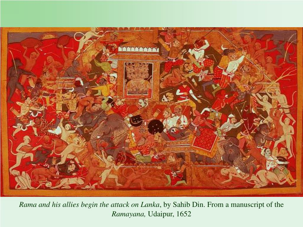 Rama and his allies begin the attack on Lanka