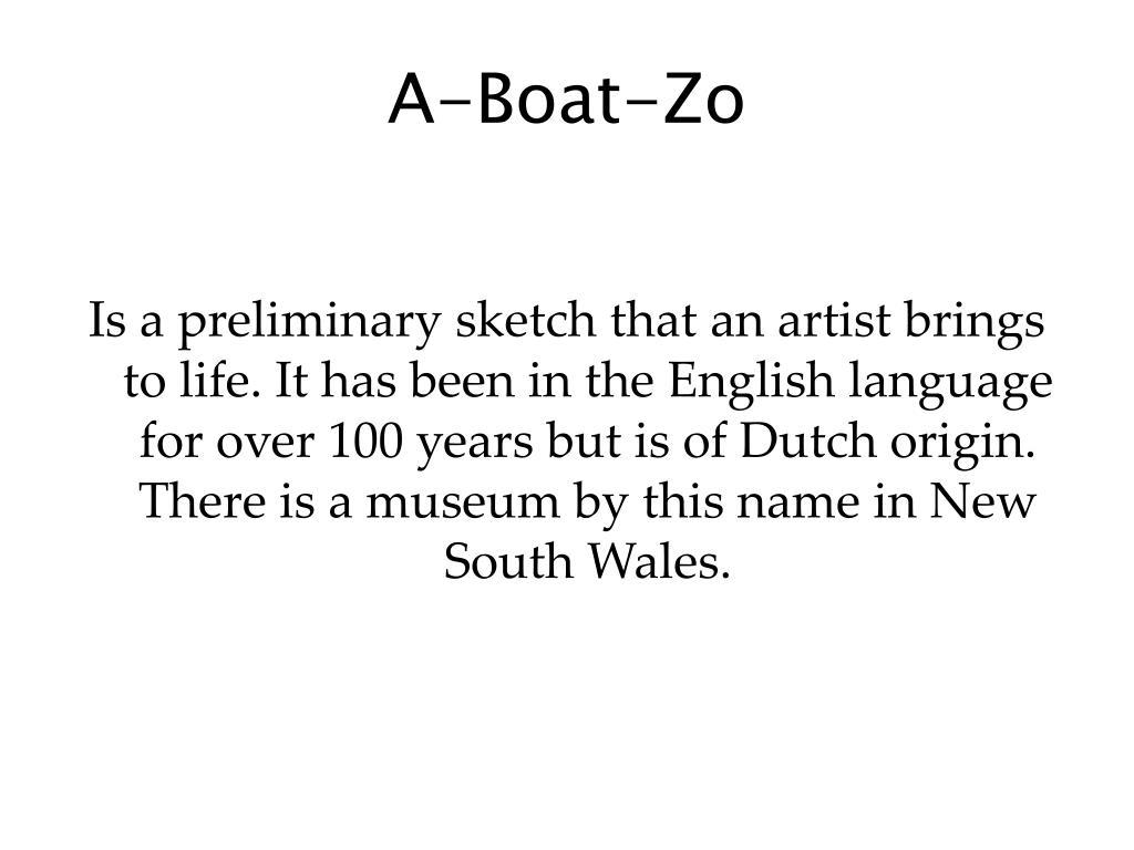 A-Boat-Zo