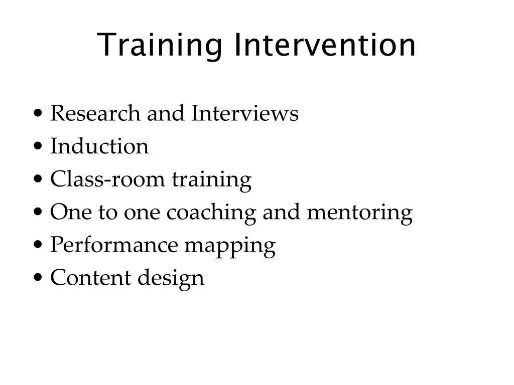 Training Intervention