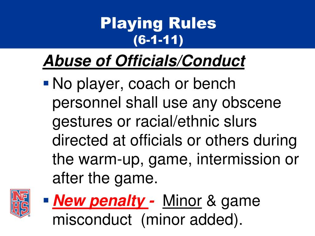 Playing Rules