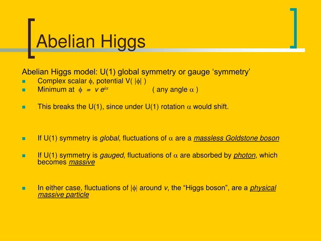 Abelian Higgs