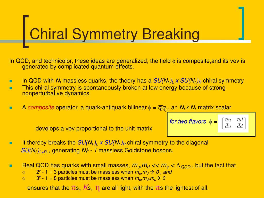 Chiral Symmetry Breaking