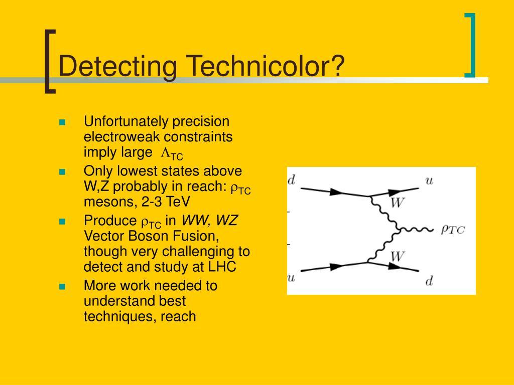 Detecting Technicolor?