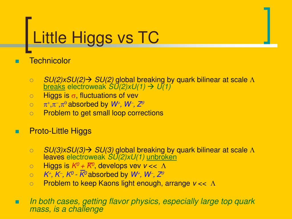 Little Higgs vs TC