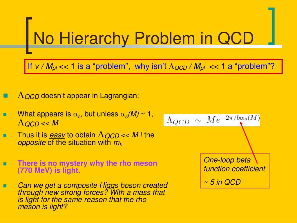 No Hierarchy Problem in QCD