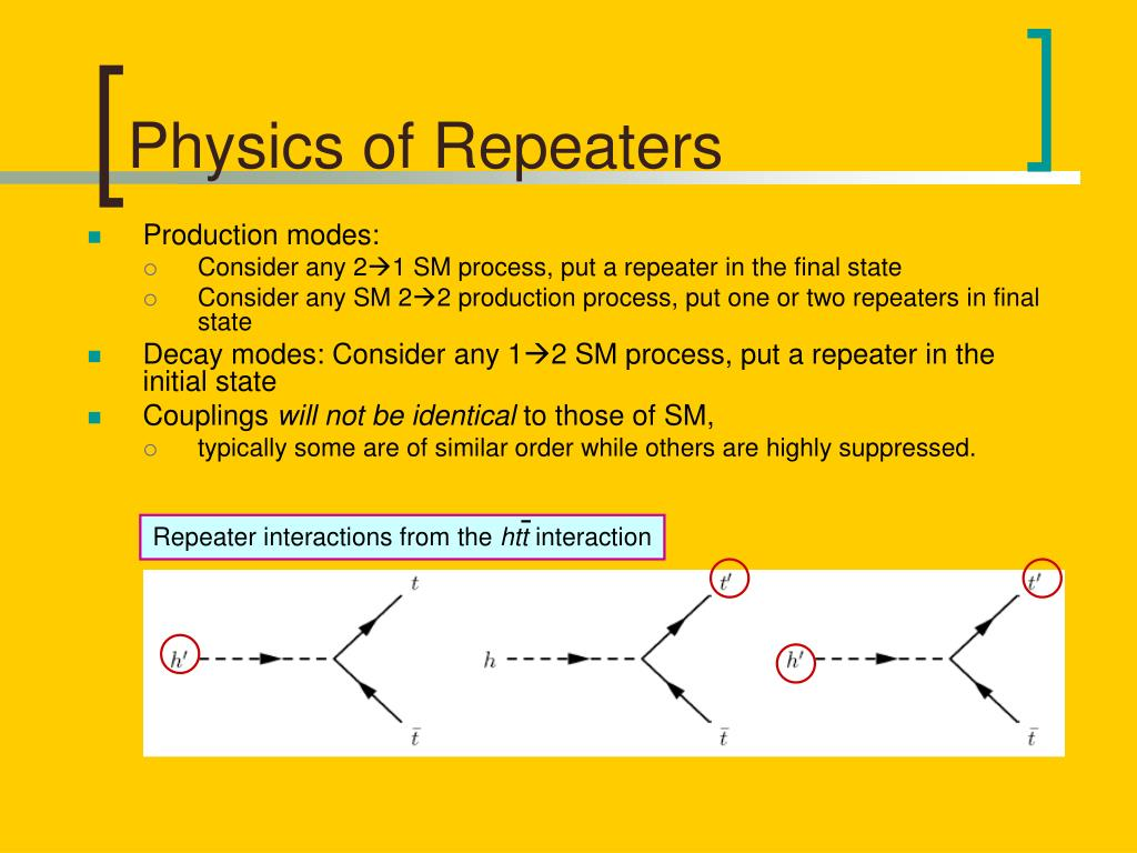 Physics of Repeaters