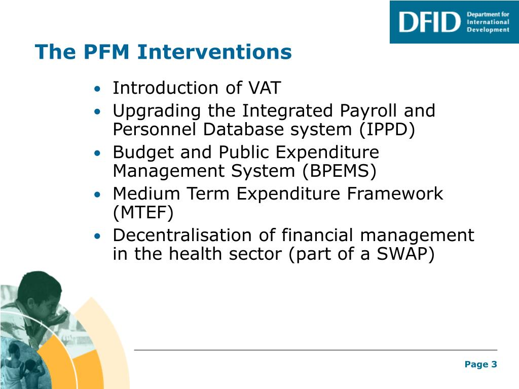 The PFM Interventions
