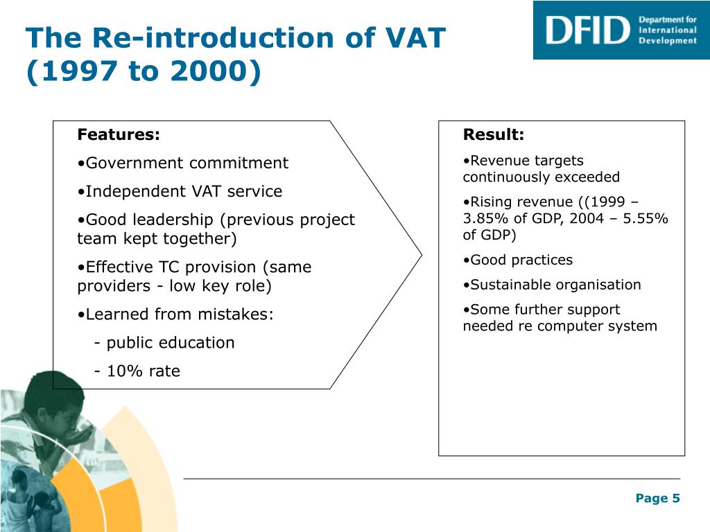 The Re-introduction of VAT