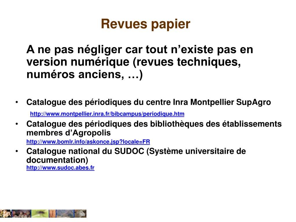 Ppt recherche d information scientifique et technique powerpoint presentati - Centre technique du papier ...