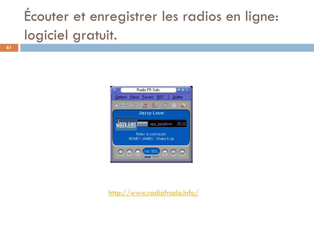 Écouter et enregistrer les radios en ligne: logiciel gratuit.