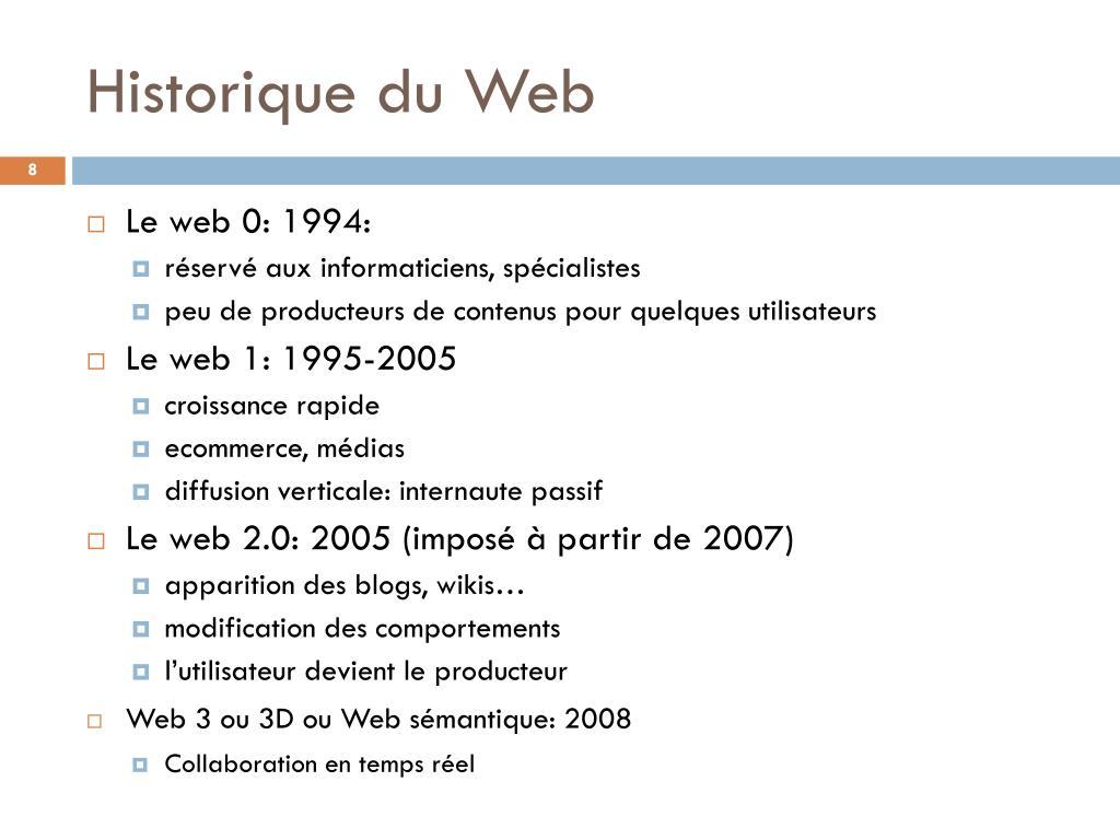 Historique du Web