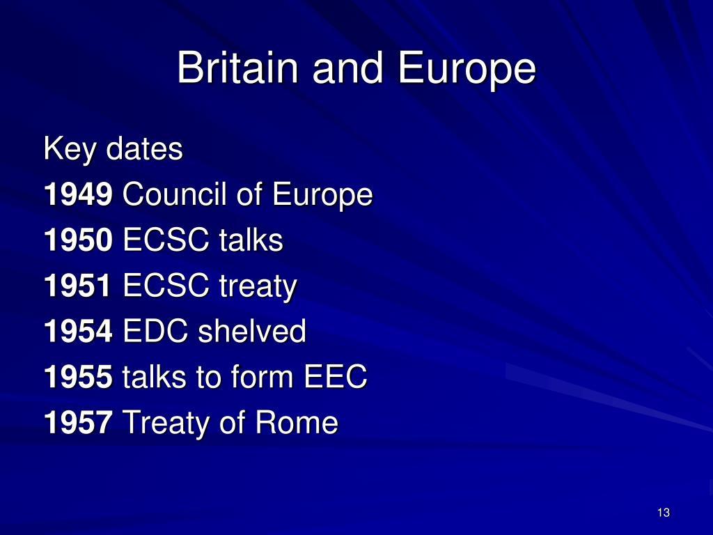 Britain and Europe