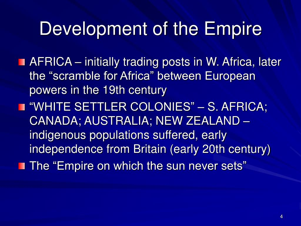 Development of the Empire