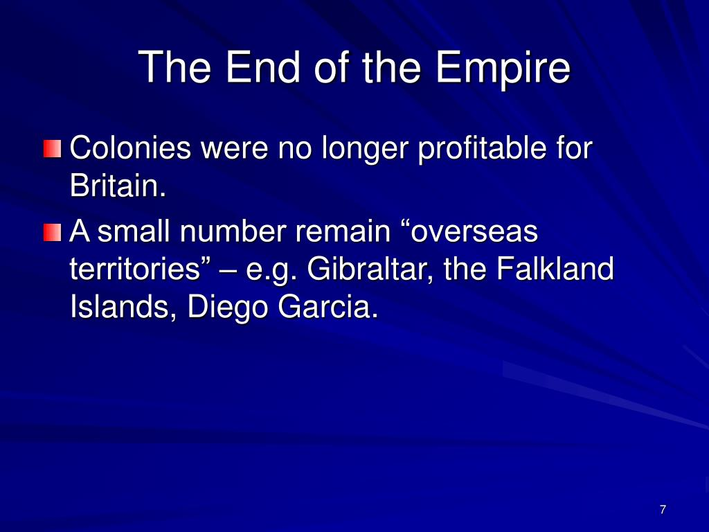 The End of the Empire