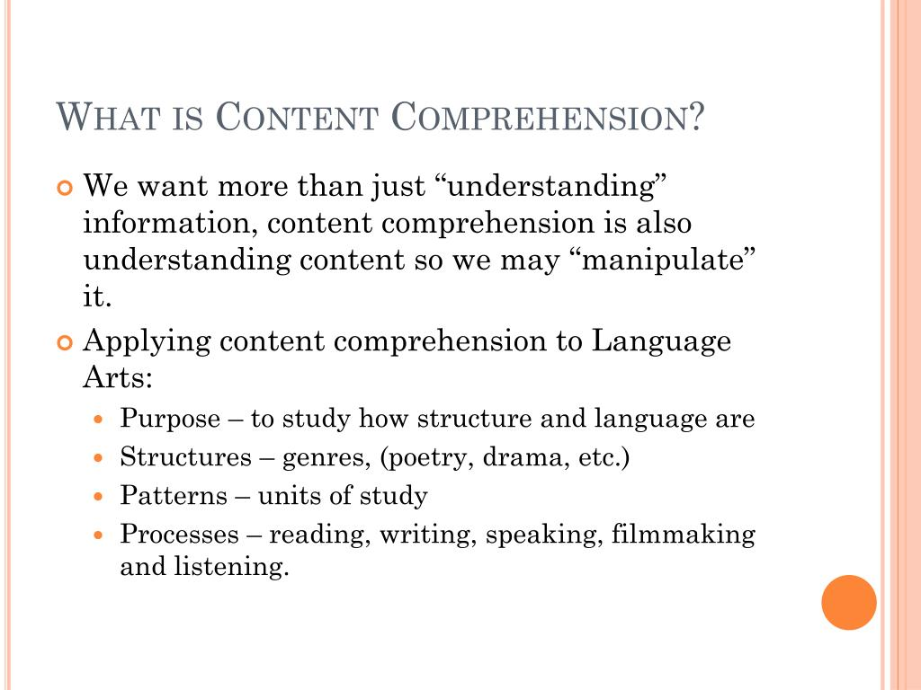 how to teach reading comprehension ppt