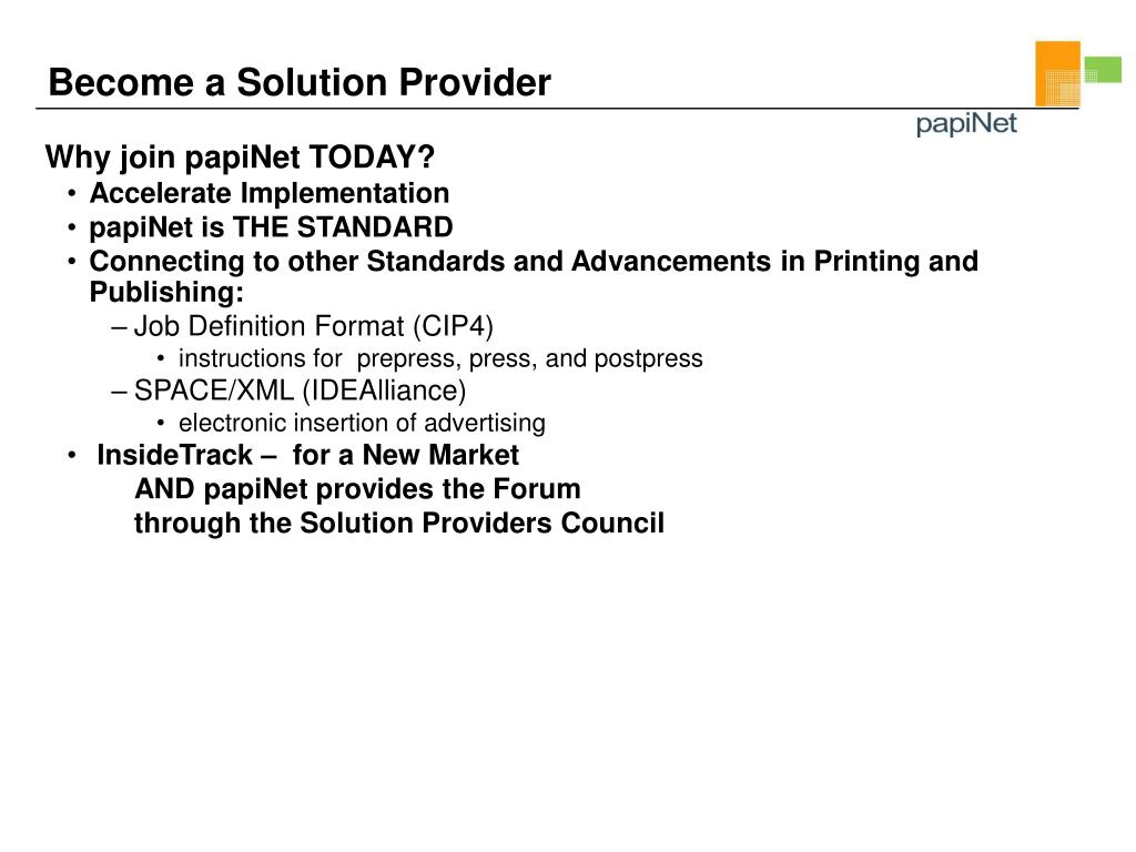 Become a Solution Provider