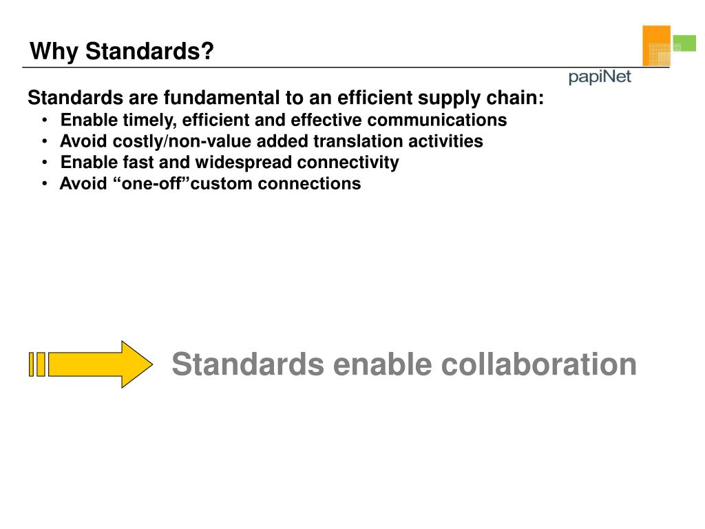 Standards enable collaboration
