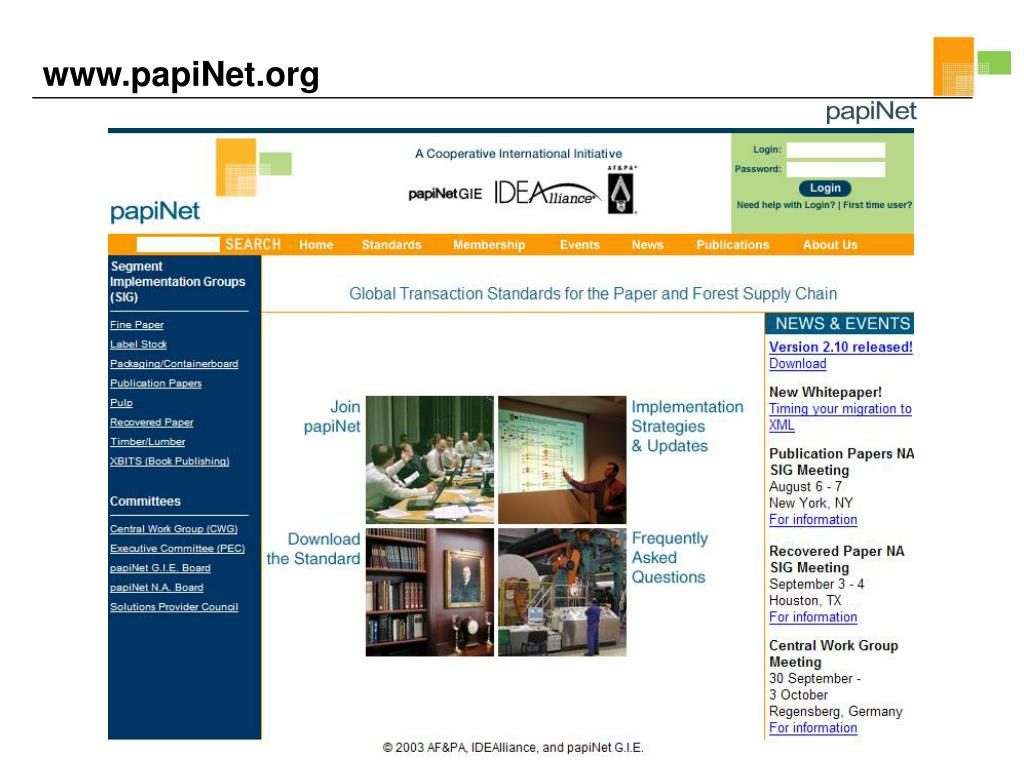 www.papiNet.org