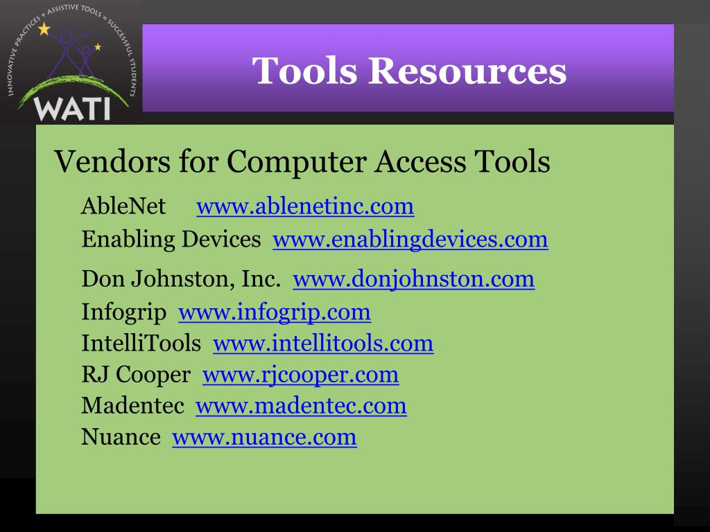Tools Resources