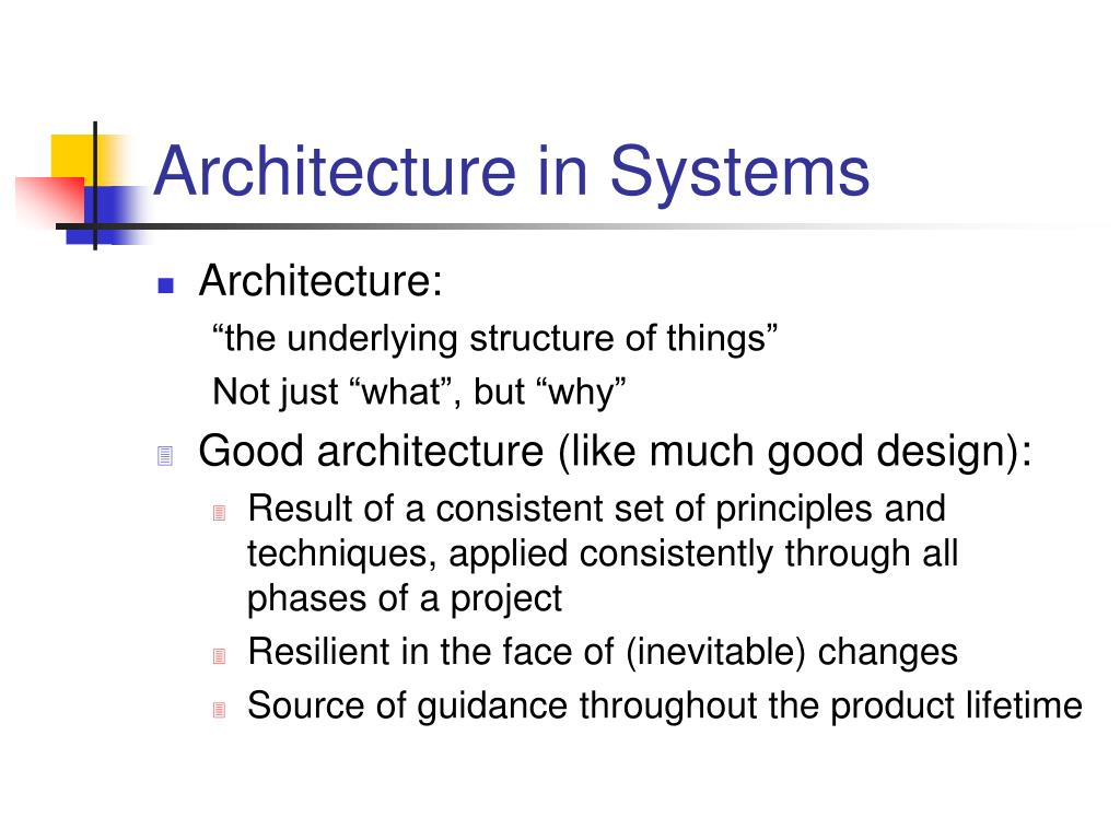 Architecture in Systems
