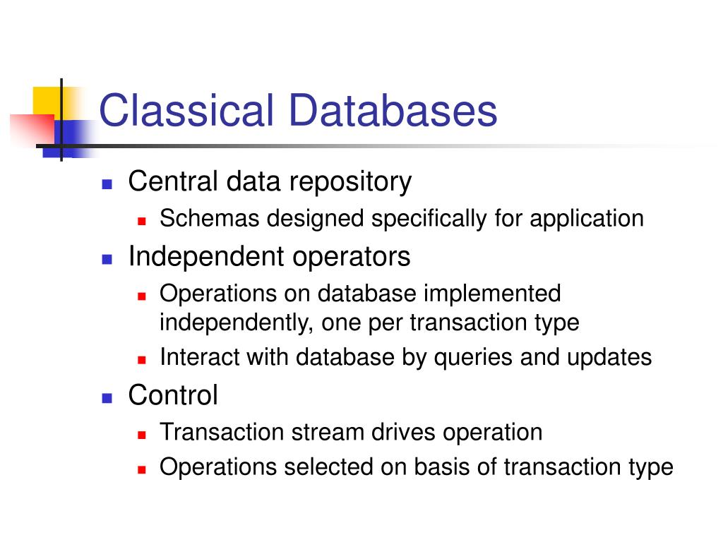Classical Databases