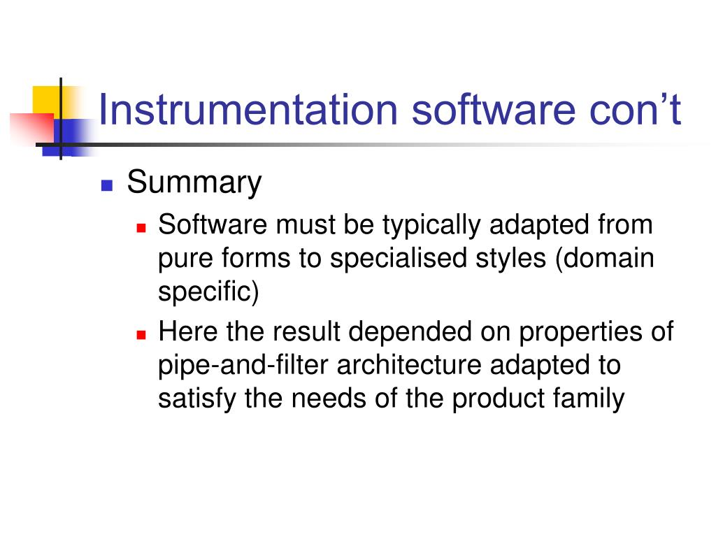 Instrumentation software con't