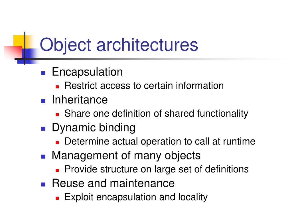 Object architectures