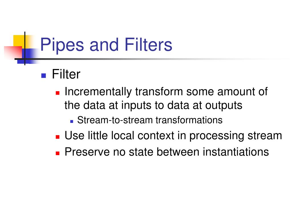Pipes and Filters