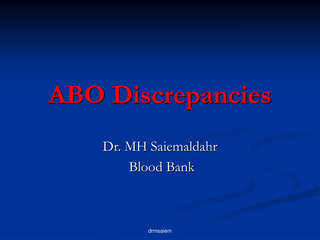 ABO Discrepancies