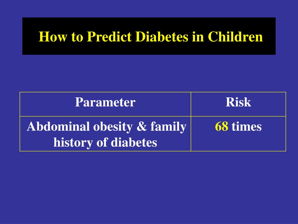 How to Predict Diabetes in Children
