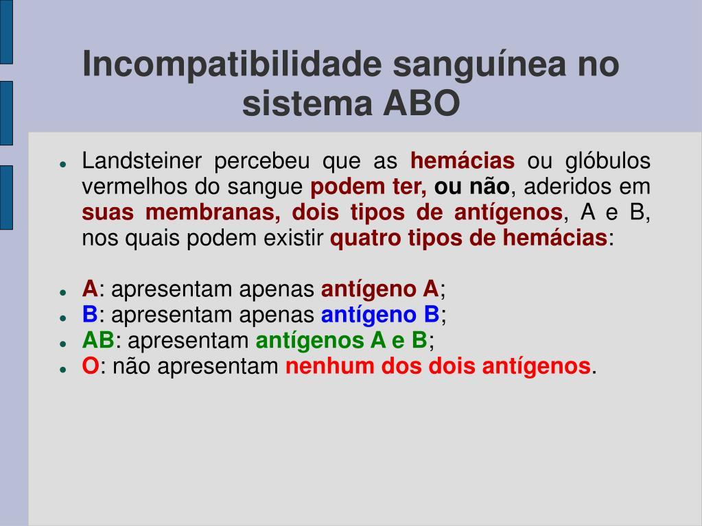 Incompatibilidade sanguínea no sistema ABO