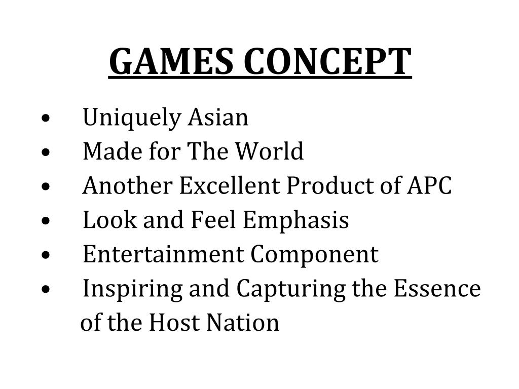 GAMES CONCEPT