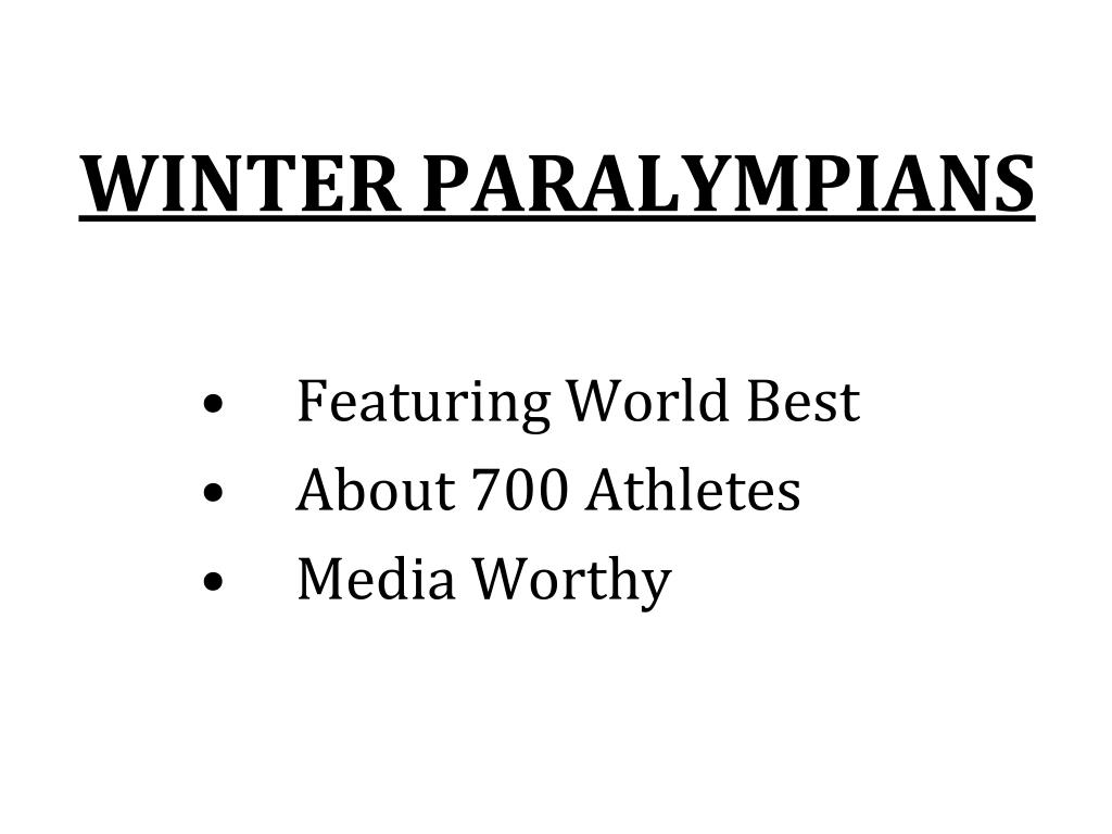 WINTER PARALYMPIANS